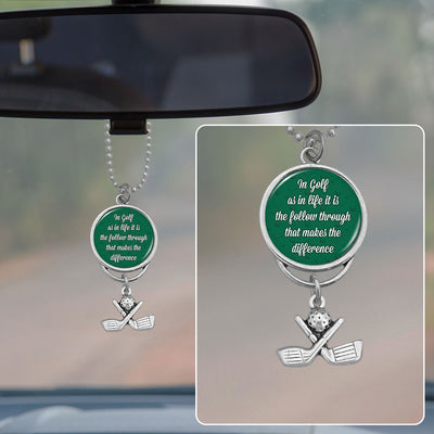 In Golf As In Life Rearview Mirror Charm