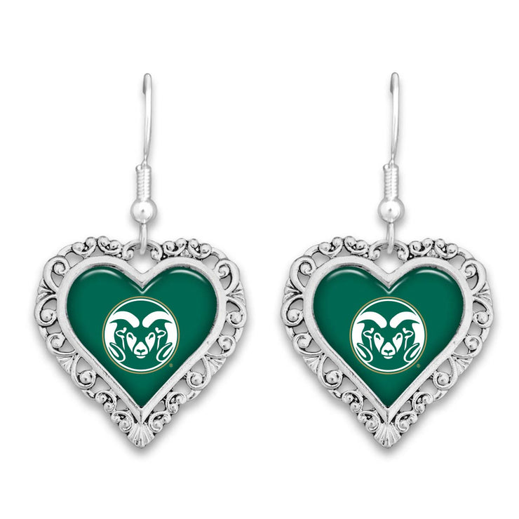 Colorado State Rams Official Lace Trim Earrings