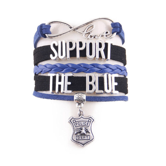 Support The Blue Infinity Love Bracelet
