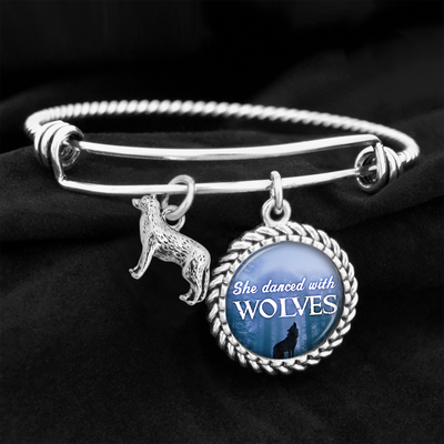She Danced With Wolves Charm Bracelet
