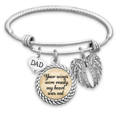 Family Member Your Wings Were Ready Charm Bracelet