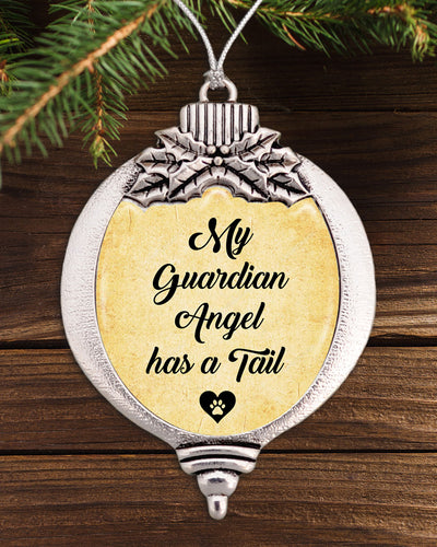 My Guardian Angel Has A Tail Bulb Ornament