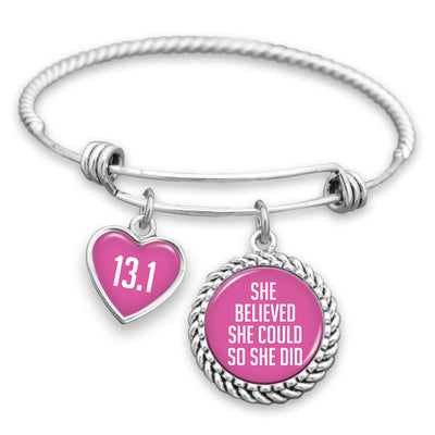 She Believed She Could So She Did Personalized Charm Bracelet