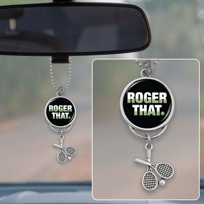 Roger That Tennis Rearview Mirror Charm