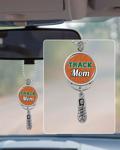 Track Mom Rearview Mirror Charm