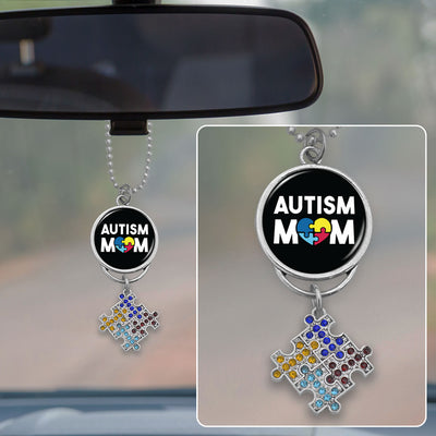Autism Mom Rearview Mirror Charm