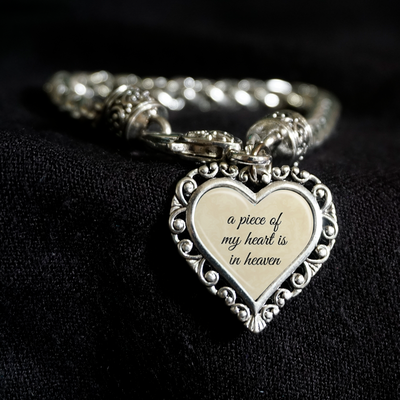 Piece Of My Heart Heart Clasp Bracelet