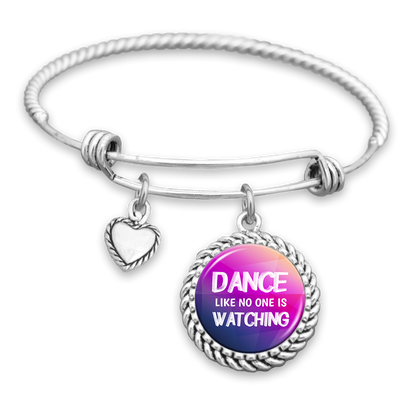Dance Like No One Is Watching Charm Bracelet