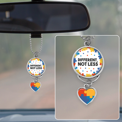 Different Not Less Autism Awareness Rearview Mirror Charm