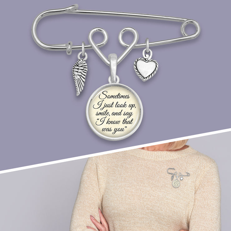 Know That Was You Safety Pin Charm Brooch