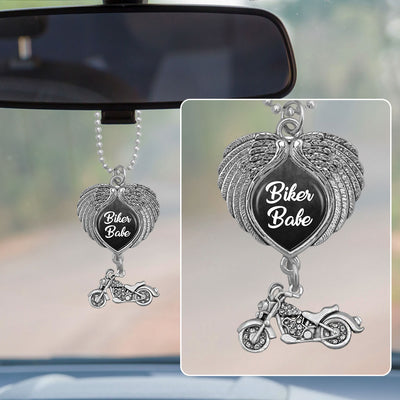 Biker Babe Wings Rearview Mirror Charm