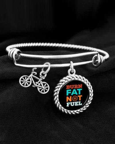 Burn Fat, Not Fuel Charm Bracelet