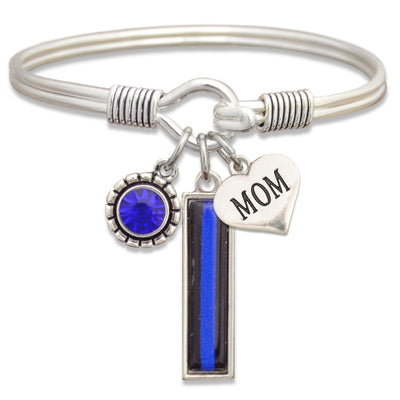 Police Family Mom/Daughter/Wife Wire Trifecta Bracelet
