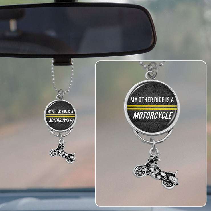 My Other Ride Is A Motorcycle Rearview Mirror Charm