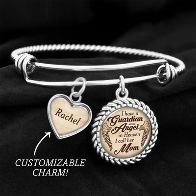 Customizable Mom Guardian Angel Charm Bracelet