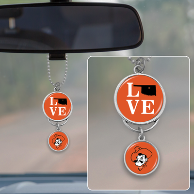 OKlahoma State Cowboys Love Rearview Mirror Charm