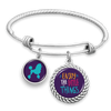 Enjoy The Little Things Poodle Charm Bracelet