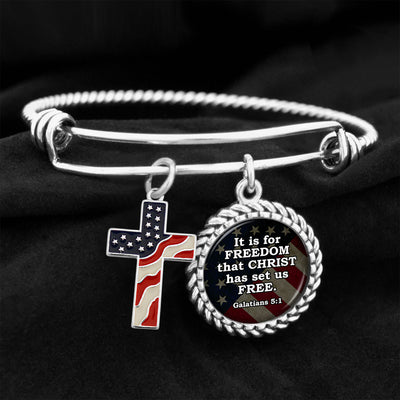 It Is For Freedom That Christ Has Set Us Free Charm Bracelet