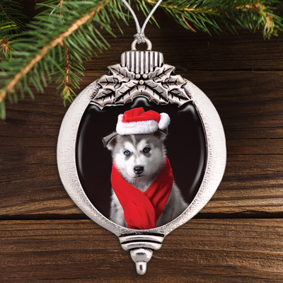 Christmas Husky Bulb Ornament
