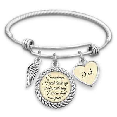 Customizable I Know That Was You Wing Charm Bracelet