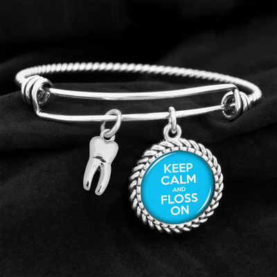 Floss On Tooth Charm Bracelet