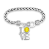 LOVE Softball Clasp Bracelet