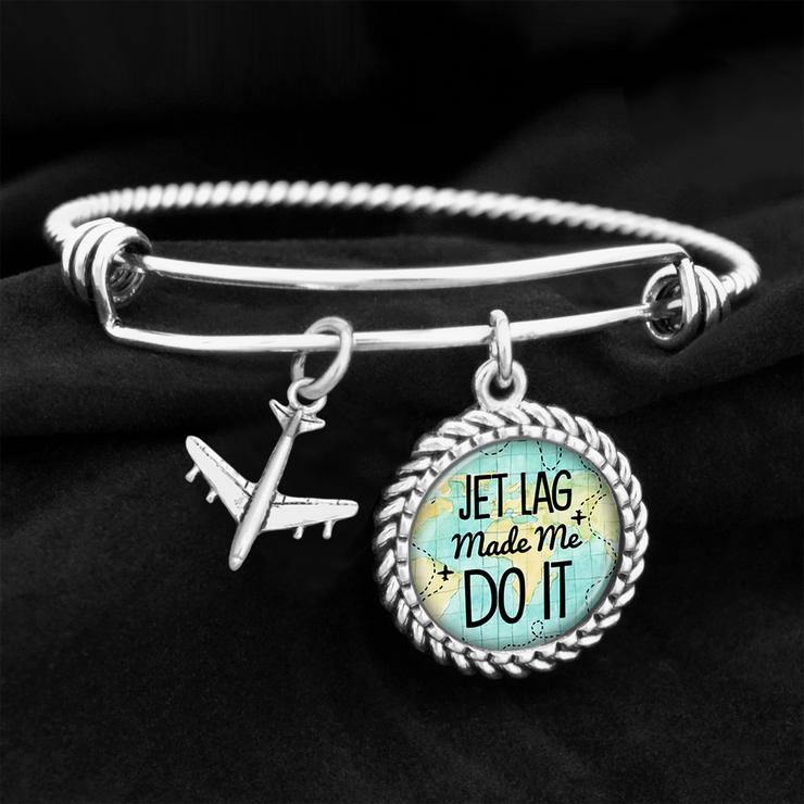 Jet Lag Made Me Do It Charm Bracelet