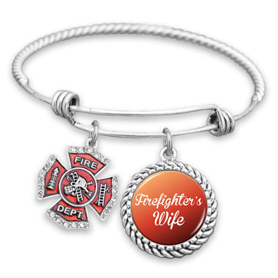 Firefighter's Wife Charm Bracelet