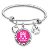 The Best Things In Life Are Rescued Charm Bracelet