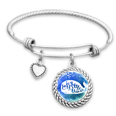 Enjoy The Little Things Whale Charm Bracelet