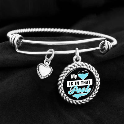 My Heart Is In That Pool Charm Bracelet