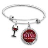 Love The Wine You're With Charm Bracelet