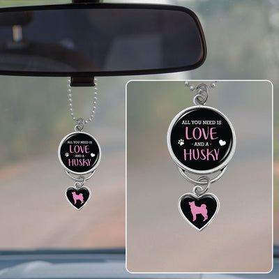All You Need Is Love And A Husky Rearview Mirror Charm