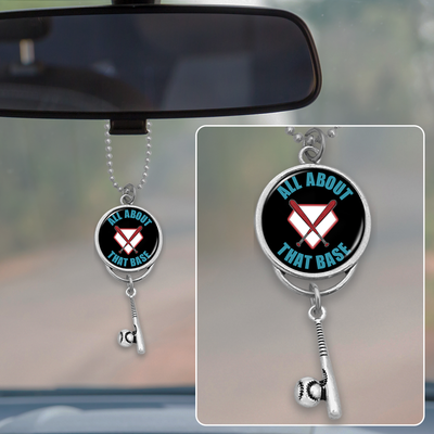 All About That Base Baseball Rearview Mirror Charm