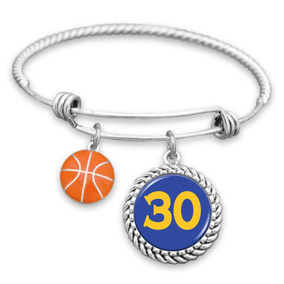 Golden State Basketball #30 Charm Bracelet