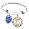I Know That Was You Police Shield Charm Bracelet