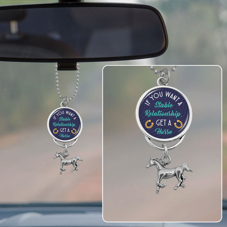 If You Want A Stable Relationship, Get A Horse Rearview Mirror Charm