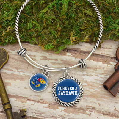 University Of Kansas Forever A Jayhawk Charm Bracelet