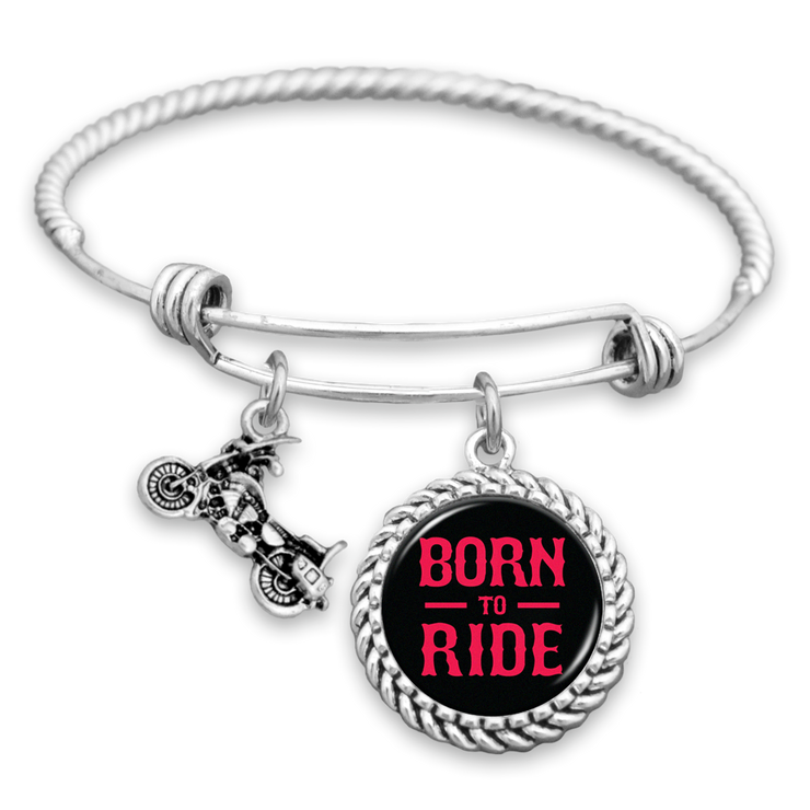 Born To Ride Motorcycle Charm Bracelet