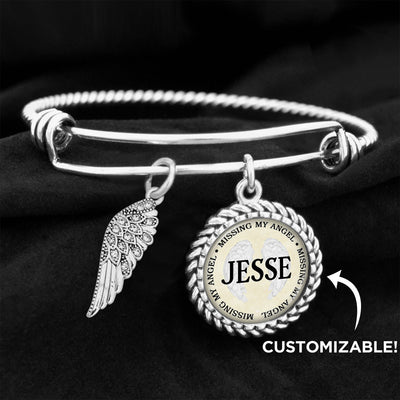 Customizable Missing My Angel Charm Bracelet