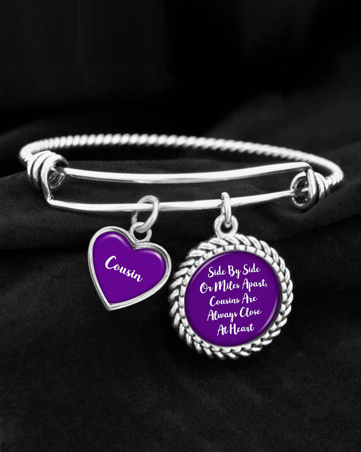 Cousins Are Always Close At Heart Charm Bracelet