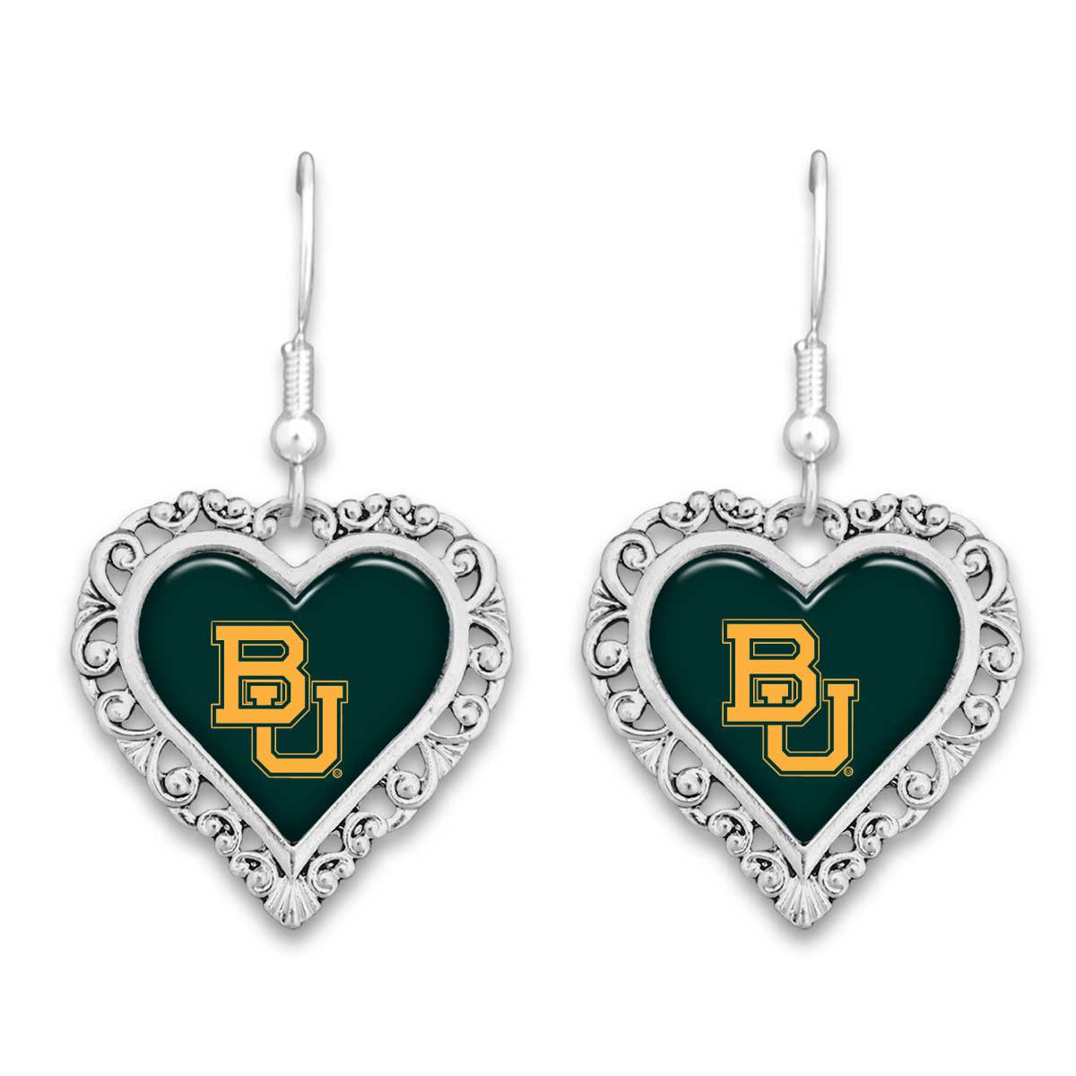 Baylor Bears Official Lace Trim Earrings