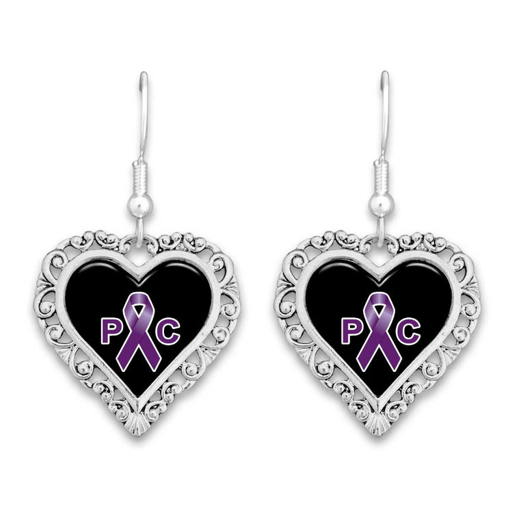 Pancreatic Cancer Awareness Lace Trim Earrings