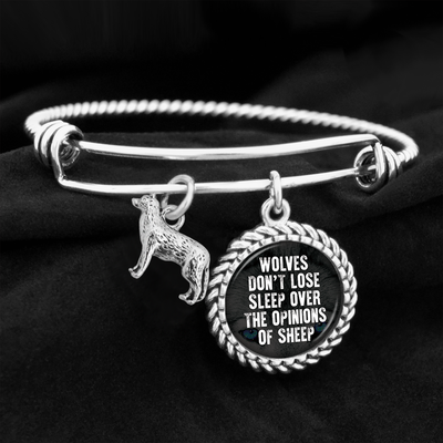 Wolves Don't Lose Sleep Over The Opinions Of Sheep Charm Bracelet