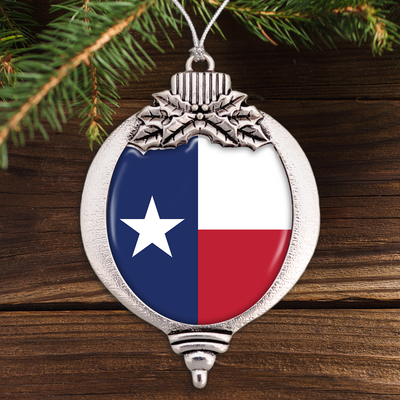 Flag Of Texas Bulb Ornament