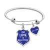Our Love Is Bulletproof Customizable Initials Police Charm Bracelet