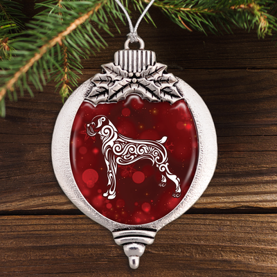 Fancy Boxer Bulb Ornament