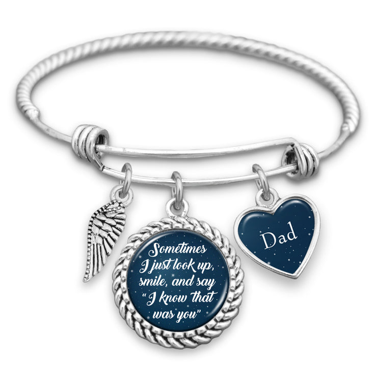 Customizable I Know That Was You Night Sky Wing Charm Bracelet