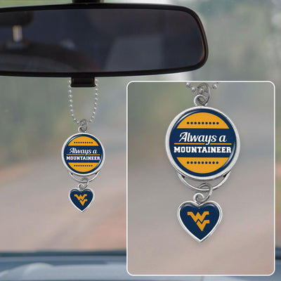 West Virginia Always A Mountaineer Rearview Mirror Charm