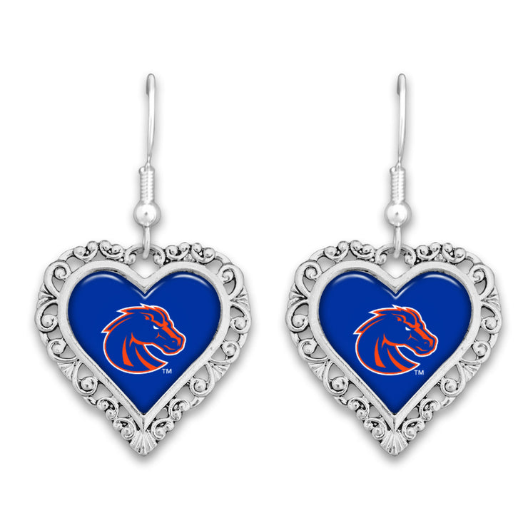 Boise State Broncos Official Lace Trim Earrings